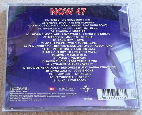 now thats what i call music 46 now thats what i call music 47