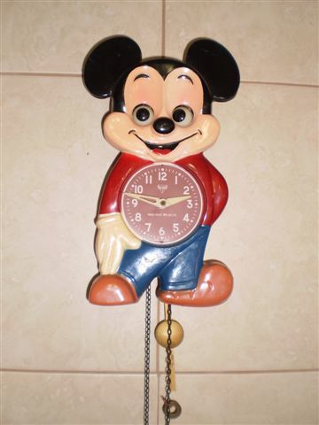 Cuckoo Amp Wall Clocks Mickey Mouse Moving Eyes Chain