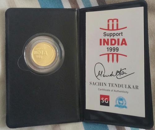 Gold & Bullion Coins - ###1999 Sachin Tendulkar 1/4 oz