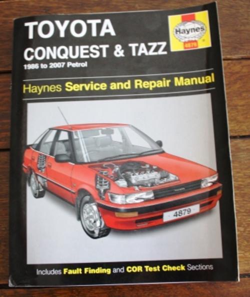 workshop manuals haynes 4879 toyota conquest and tazz 1986 to 2007 rh bidorbuy co za Toyota JZ Engine 1984 Toyota Tercel