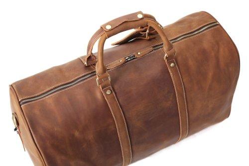 Extra Large Handmade Full Grain Leather Duffle Bag   Travel Bag   Luggage    Sport Bag   Weekend Bag d8830ecc3f