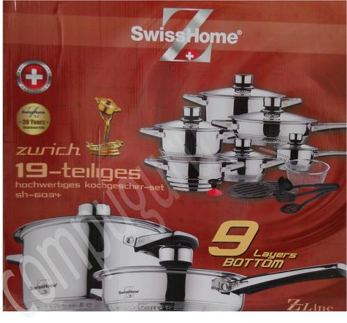Cookware Sets Swisshome 19 Pieces Stainless Steel 19 10 Cookware 9 Layer Capsuled Bottom Thermostat Lids Was Sold For R843 00 On 3 Nov At 22 31 By Ebudgetdeals In Johannesburg Id 119738991