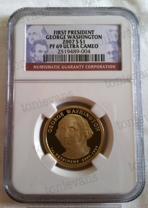 2007-2012 USA Presidential Golden Dollar Series NGC Graded PF69 (24 coin  set)[Bid per item]