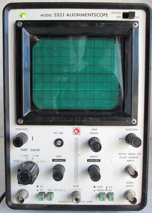 Vintage Kikusui Electronics Alignmentscope Model 552J