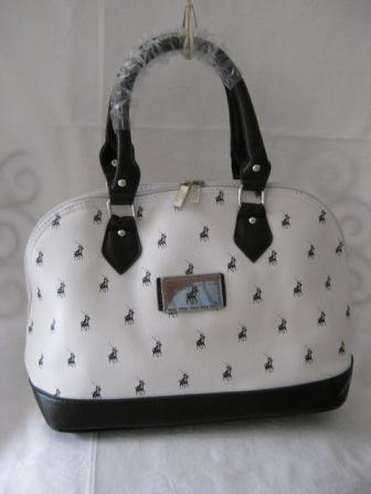 Handbags Amp Bags Small Polo Handbag White And Dark Brown