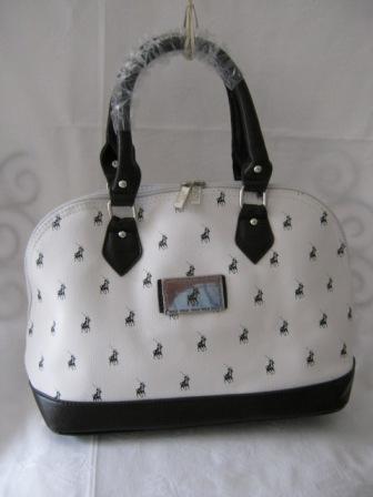 Diamond For Sale >> Handbags & Bags - SMALL POLO HANDBAG (WHITE AND DARK BROWN ...
