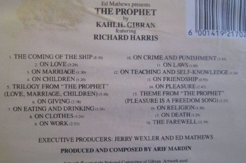 Other Music CDs - The Prophet - Kahlil Gibran - A Musical