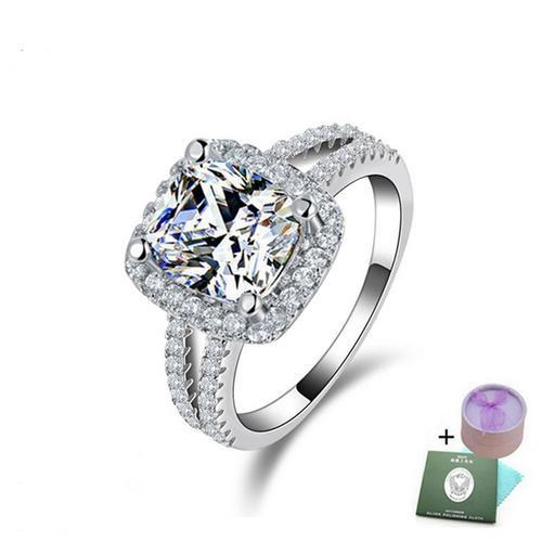 Engagement Rings 4 Carat Cr Cushion Cut Diamond Ring with accents Size 7 w