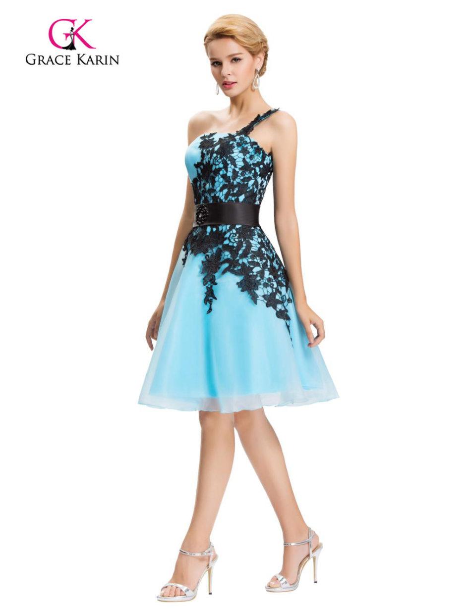 Formal Dresses Blue Cocktail Chiffon Evening Dresses Was