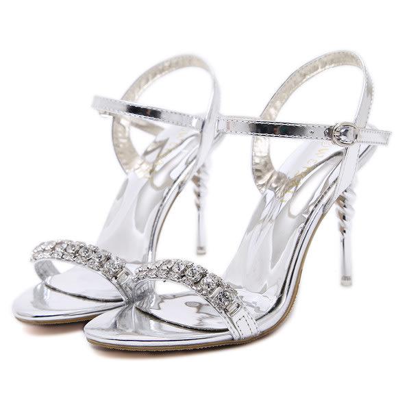 4cbad2ddaf1557 Heels - Ladies Heels Bridal Silver Sandals Stiletto Spiral Heels was ...