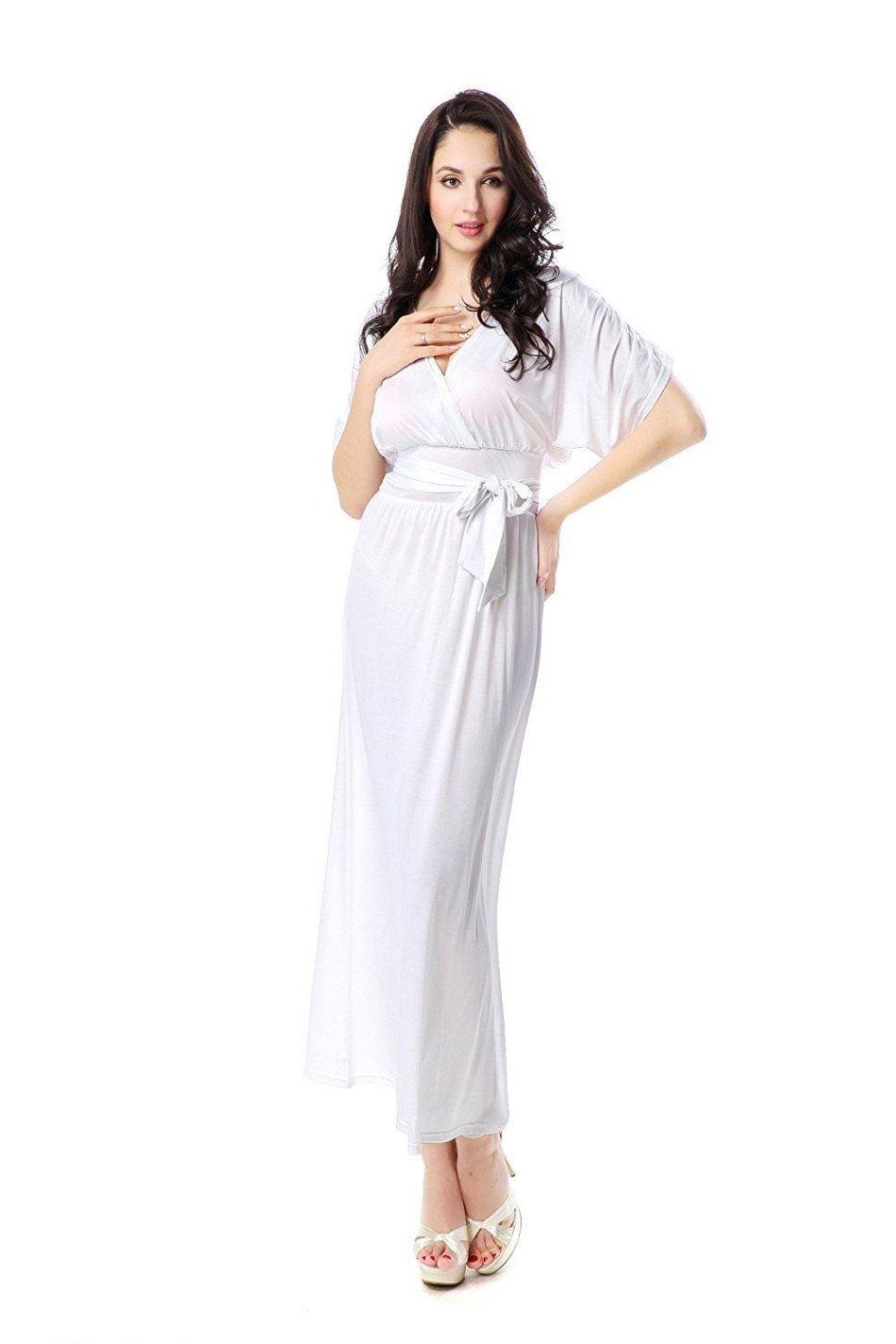 White Beach Maxi Dress Plus Size