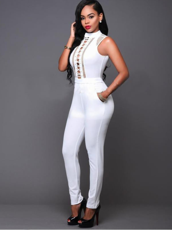 d633c5d89f9 Playsuits   Jumpsuits - JUMPSUIT JUMPSUITS WOMENS JUMPSUIT WHITE ...