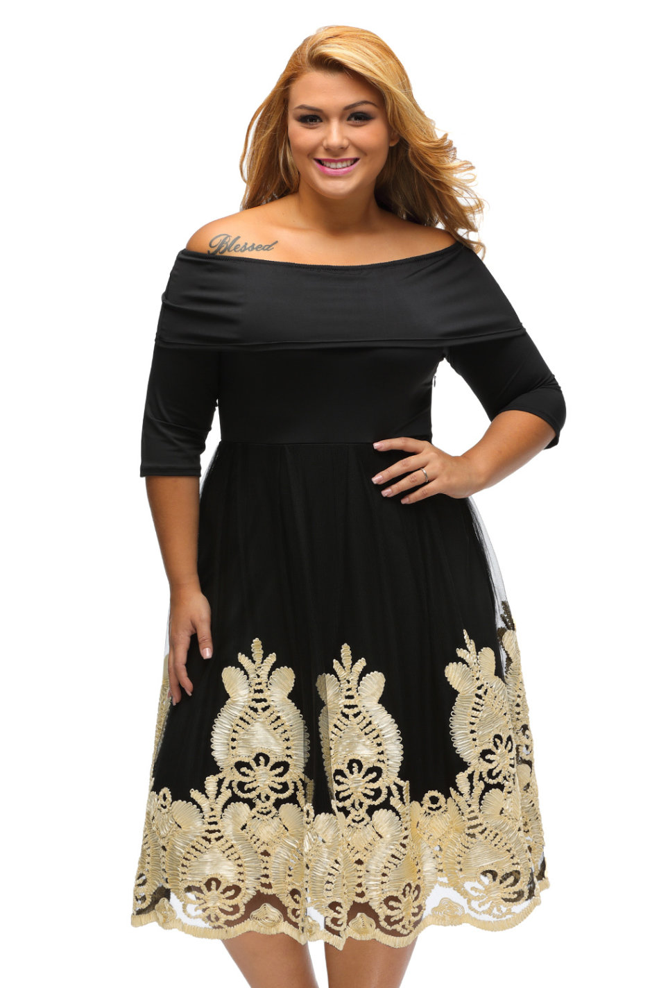 25a33cb9383 Black And Gold Plus Size Prom Dresses - Gomes Weine AG