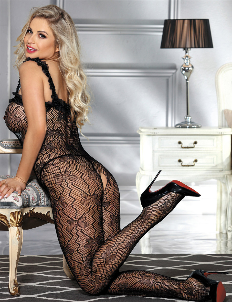 d3560a8a5cf Baby Dolls   Teddies - Sexy lingerie black bodystocking was listed ...