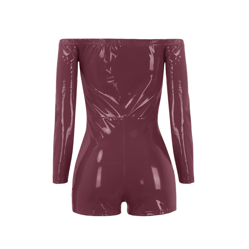 edb9c64fcb4 Playsuits   Jumpsuits - Short Jumpsuits Wine Red Leather Party ...