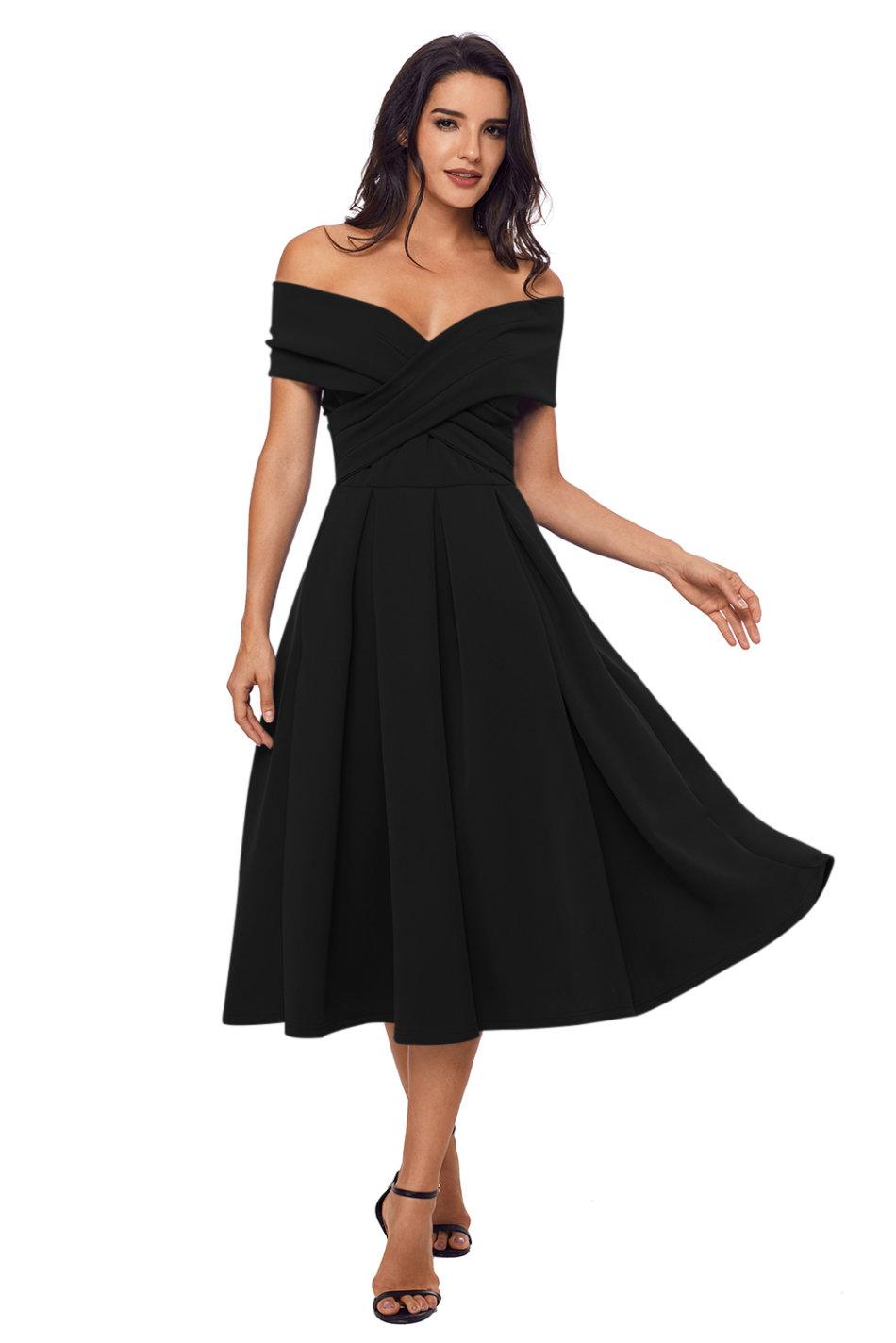 c401486d0e49 Formal Dresses - Black Midi Evening Dresses was listed for R706.82 ...