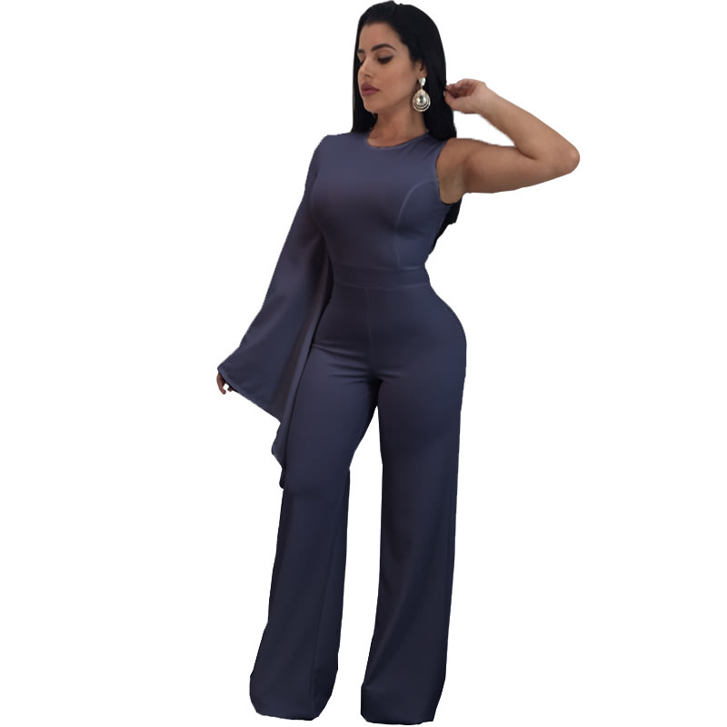Playsuits Jumpsuits Blue Bodycon Plus Size Party Jumpsuits For