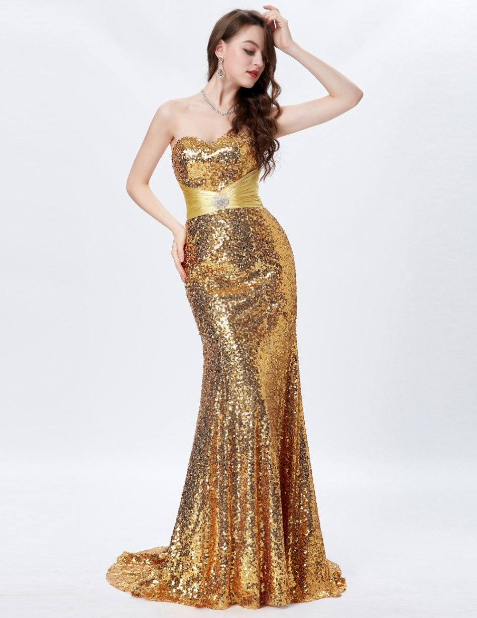 Formal Dresses - Formal Gold Sequin Evening Dresses was listed for ...