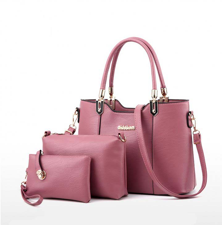 Women S Three Piece Handbag Sets Light Pink