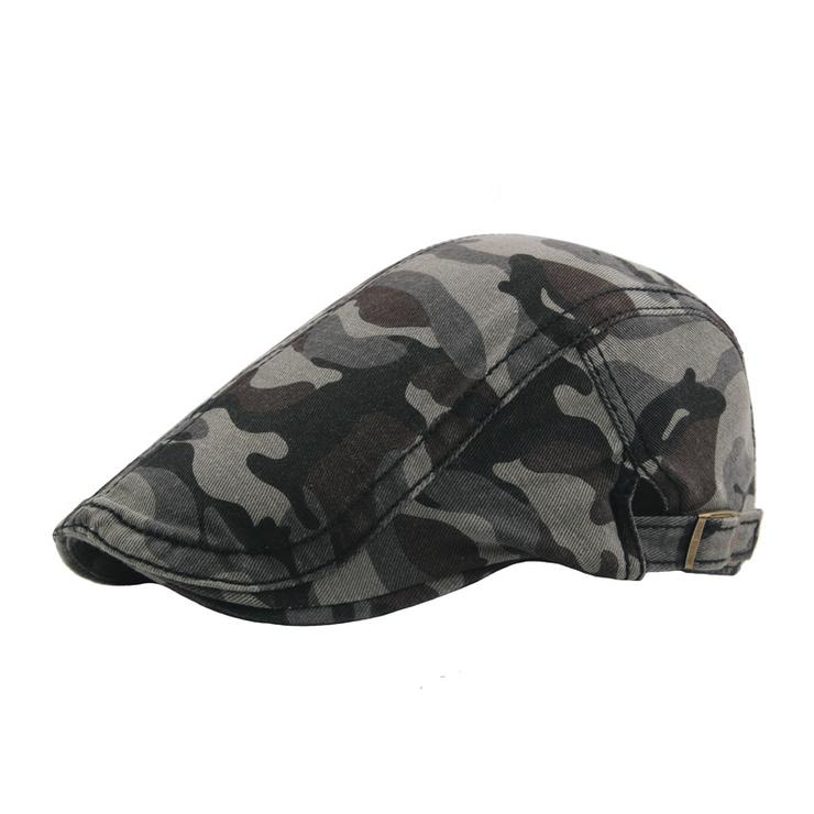 31e7eaa56be Hats   Caps - Camouflage Pattern Newsboy Caps Grey was listed for ...
