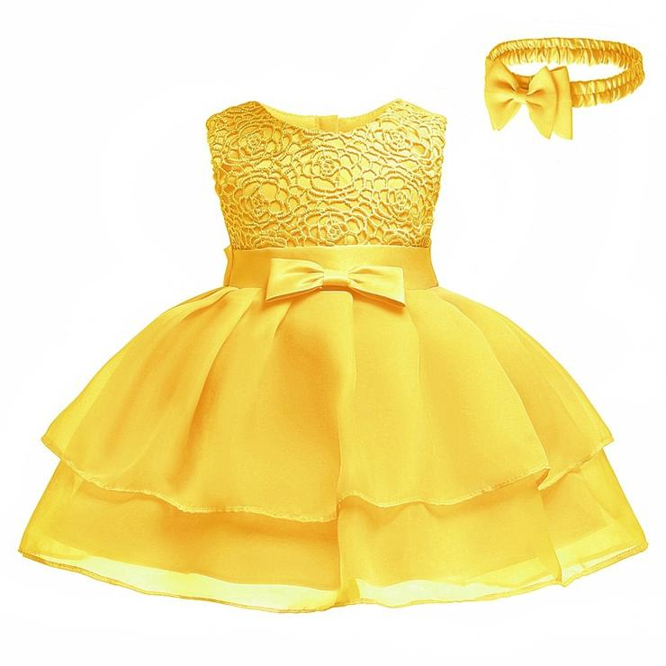 da6abe3ab94 Dresses   Skirts - Baby Girl Yellow Princess Tutu Dresses with ...