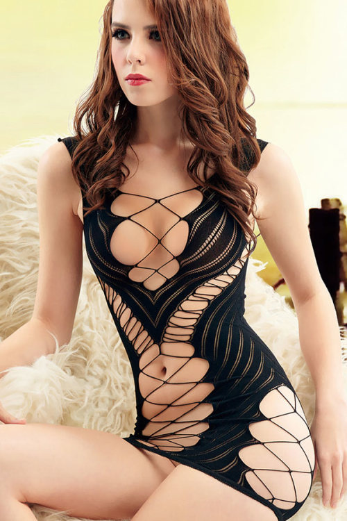136506ef3 Baby Dolls   Teddies - Black Fishnet Chemise Lingerie was listed for ...