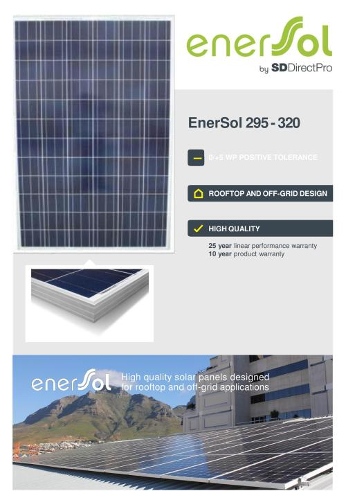 Other Home & Living - EnerSol 320W High Efficiency Solar Panel was
