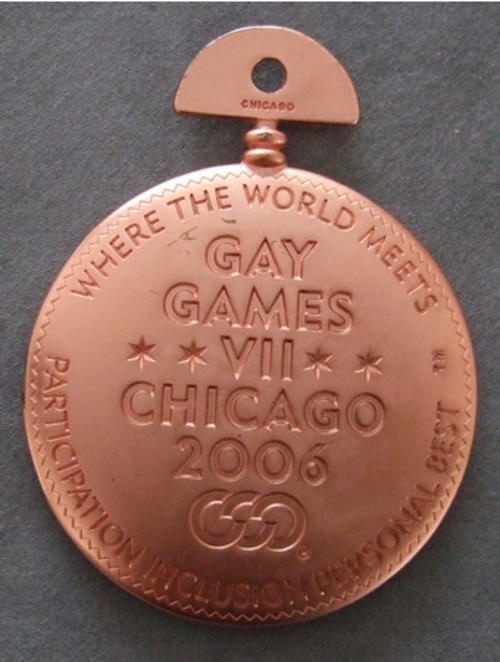 Gay Games VII Chicago 2006 Participation Personal Best Medal