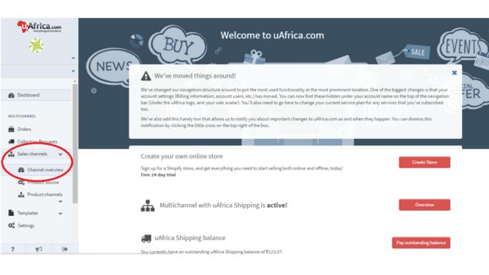 uAfrica shipping