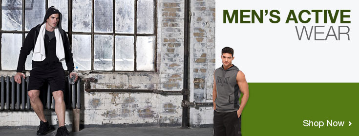 Men's Active Wear. Shop Now!
