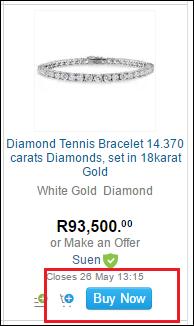 buy now logo on item