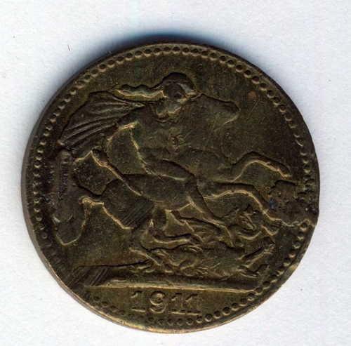 1911 England brass coronation coin - Edward VII