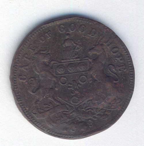 Herns #292a J.W. Irwin half Penny dated 1879