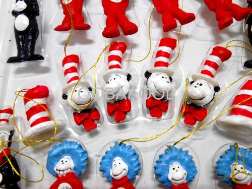 dr seuss christmas tree ornaments very rare cat in the hat xmas series oobakool