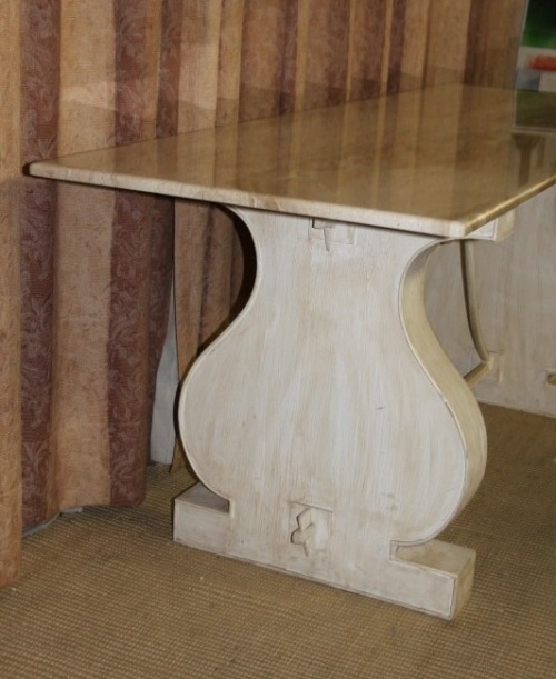 SPECTACULAR 2m SOLID ITALIAN MARBLE TOP CONSOLE