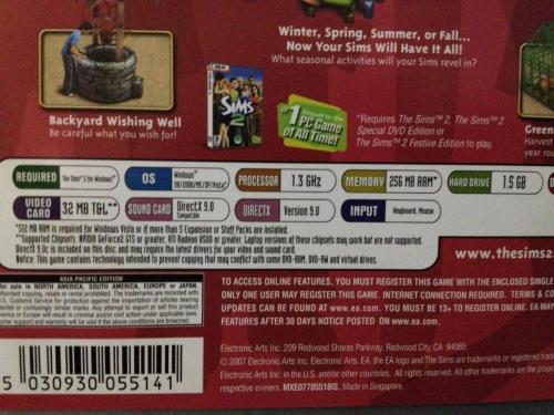 Games - PC - The Sims 2 - Seasons Expansion Pack was sold