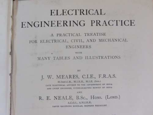 Electrical Engineering practice by J.W. Mears and R.E. Neale