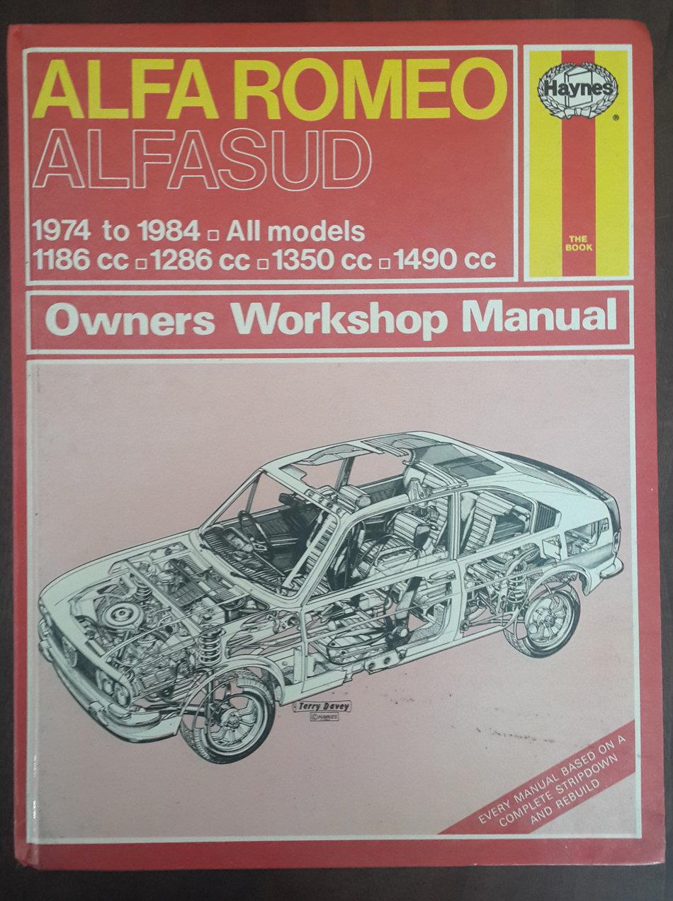 Workshop Manuals Alfa Romeo Alfasud 1974 84 All Models 1186cc Repair Manual 1286cc 1350cc 1490cc Owners