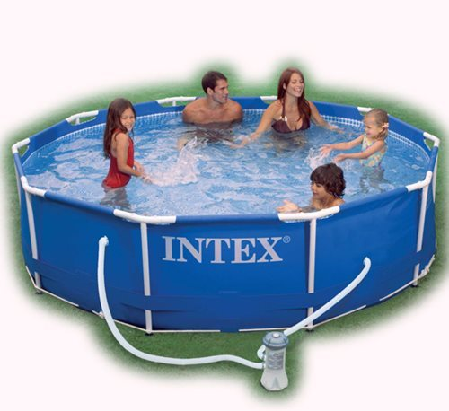 Swimming pools intex metal frame pool was sold for r850 for Intex mini frame pool afdekzeil