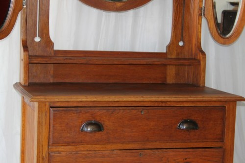 Commodes A Superb Antique Solid Oak 3 Drawer Chest Of