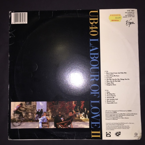 Reggae - UB40 - Labour Of Love II (LP) Vinyl Record (9th
