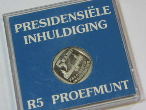 1994 RSA proof Presidential Inauguration R5 in plastic case