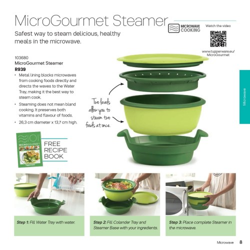 microwave cookware tupperware micro gourmet steamer was. Black Bedroom Furniture Sets. Home Design Ideas