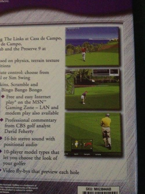 Games - PC - Microsoft Golf Windows 95/98 was listed for R50