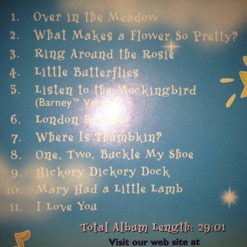 Childrens music cd barney for baby love lullabies was cd mightylinksfo