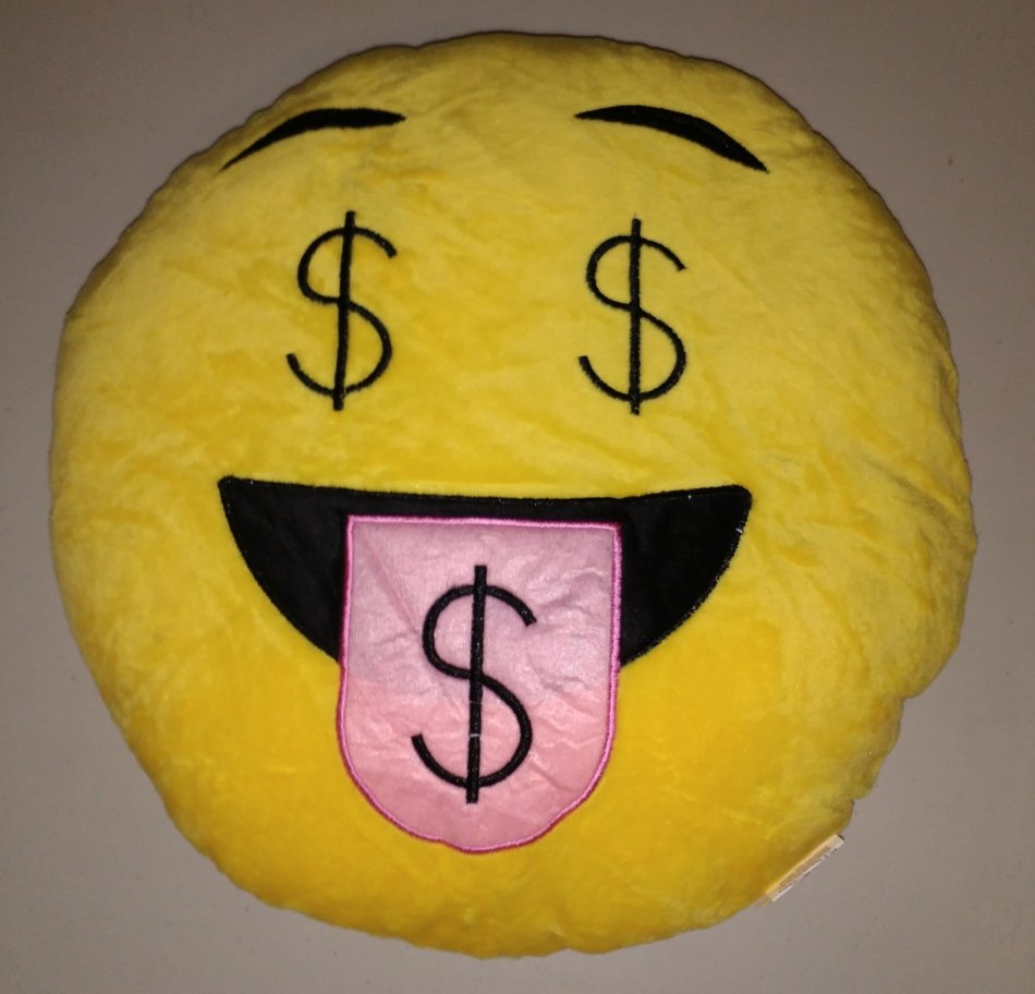 cushions emoji dollar sign emoticon round cushion pillow