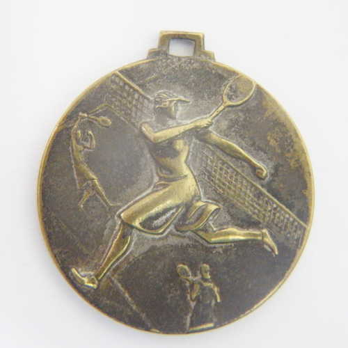 Antique Arte Nauvoux Tennis medallion