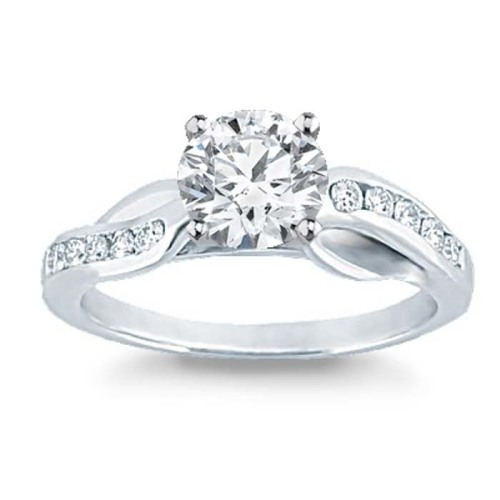 Engagement Rings 1 00TCW 100% Real Round Solitaire Diamond Certified Ring 1