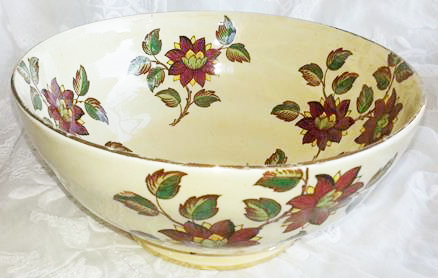 English Porcelain Vintage Hand Painted Maling Fruit