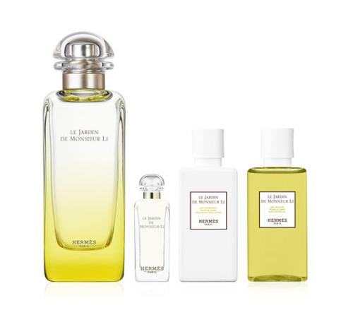e7195bbc9fc Hermes Le Jardin De Monsieur Li Gift set for Women 100ml EDT+7.4 ml EDT+40ml  Body lotion+40ml Shower gel